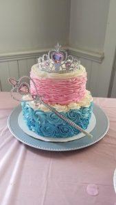 princess ruffle cake