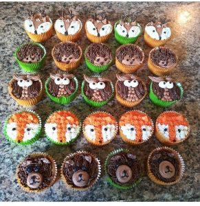 woodland animal cupcakes