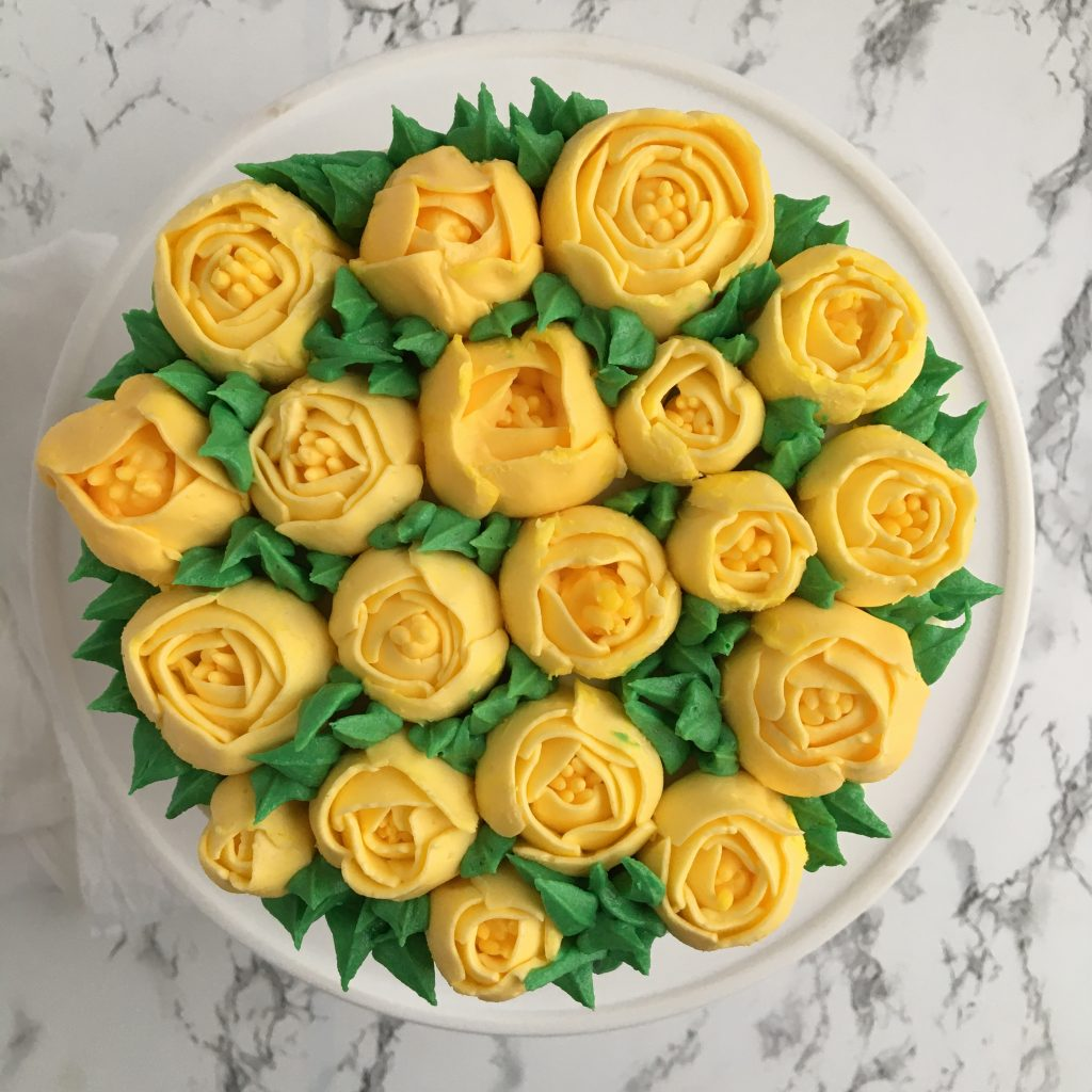 yellow buttercream tulips