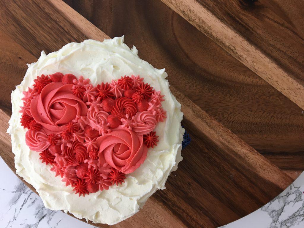 easy heart cake